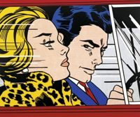In the Car - Roy Lichtenstein - obraz olejny - 100x100cm