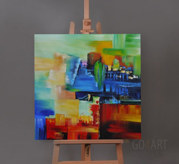 "Abstract ""Colours"" - obraz olejny - 100x100 cm"
