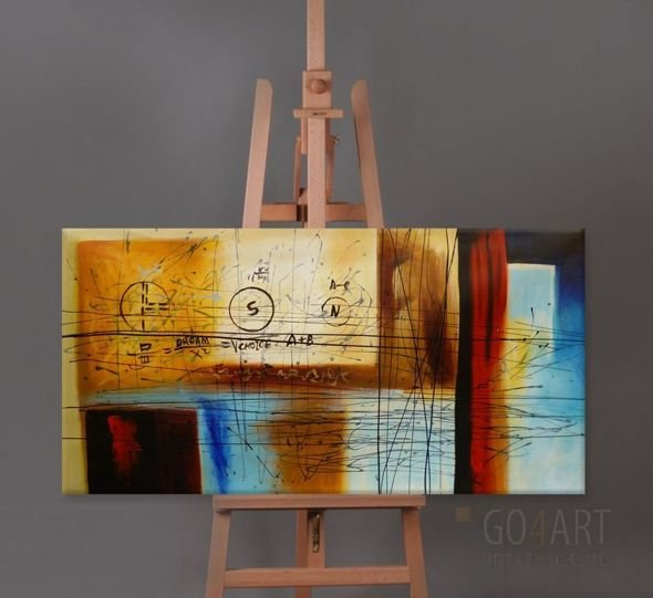 Abstract X2 - obraz olejny - Go4Art -120x60cm