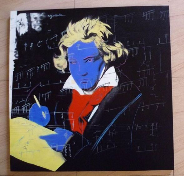 Beethoven, Yellow Book - Andy Warhol - obraz olejny - reprodukcja - 100x100cm